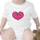 Camisa del bebé del corazón de Kawaii