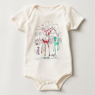 camisa del bebé del dogie