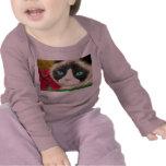 Camisa del bebé del gatito de la primavera