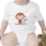 Camisa del bebé del mono