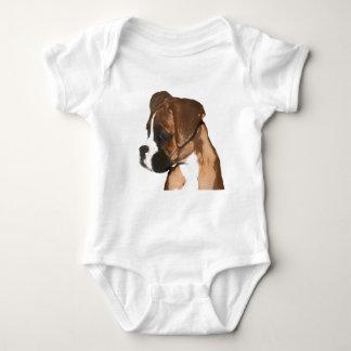 Camisa del bebé del perrito del boxeador