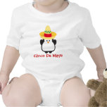 Camisa del bebé del pingüino de Cinco de Mayo