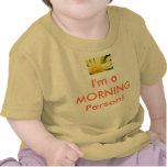 ¡Camisa del bebé - soy una persona de la MAÑANA!