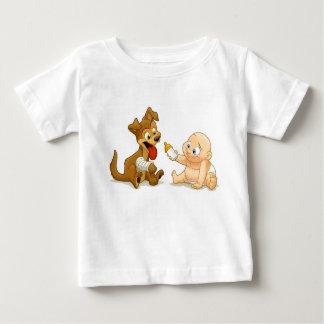 Camisa del bebé y del perrito