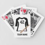 Camisa del béisbol con los naipes del palo y de la barajas de cartas