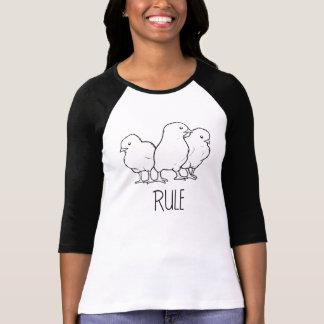 Camisa del béisbol de la regla de los polluelos