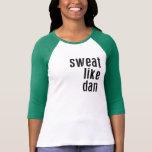 Camisa del béisbol de las mujeres de SDLHC - sudor