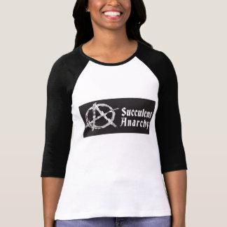 Camisa del béisbol de las mujeres suculentas de la
