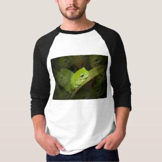 Camisa del béisbol de las reflexiones de la rana