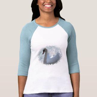 Camisa del béisbol del cisne de la trompeta