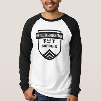Camisa del béisbol del soldado de infantería