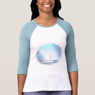 Camisa del béisbol del velero del catamarán