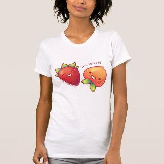 Camisa del beso de las frutas de la fresa y del