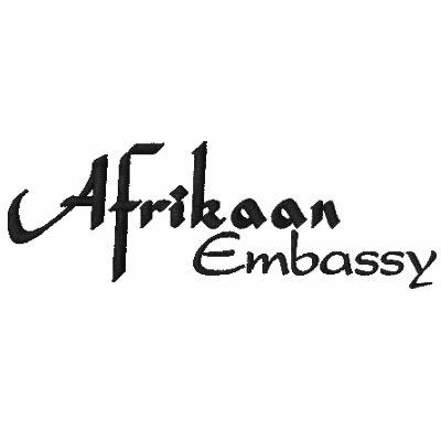 Camisa del blanco de la embajada de Afrikaan Polo