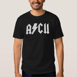 Camisa del blanco del ASCII AC/DC