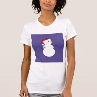 camisa del blanco del muñeco de nieve