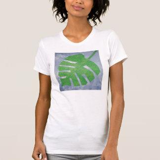 Camisa del bloque del edredón de la hoja
