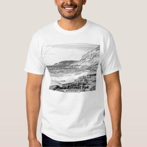 Camisa del bosquejo de la orilla del Acadia