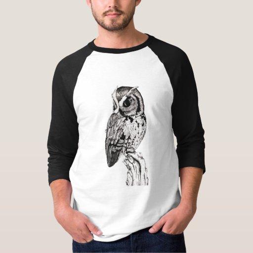 Camisa del búho de chillido