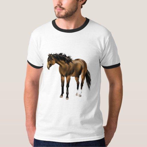 Camisa del caballo del ante