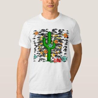 Camisa del cactus del ojo de pescados