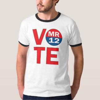 Camisa del campanero de Mitt Romney 12 del voto