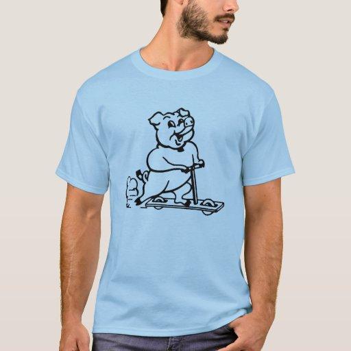 Camisa del cerdo de camino
