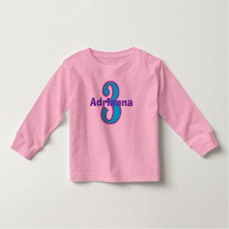 Camisa del chica del cumpleaños de la moda de