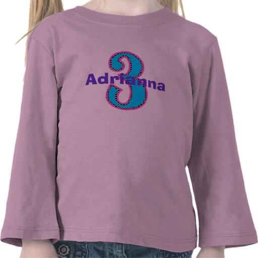 Camisa del chica del cumpleaños de la moda de Hipp