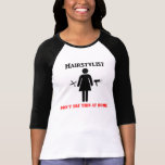 Camisa del chica del Hairstylist