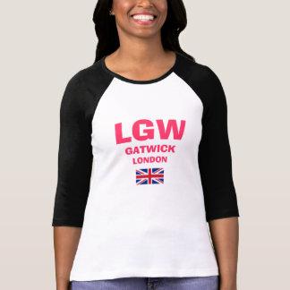 Camisa del código del aeropuerto de LGW Gatwick Lo