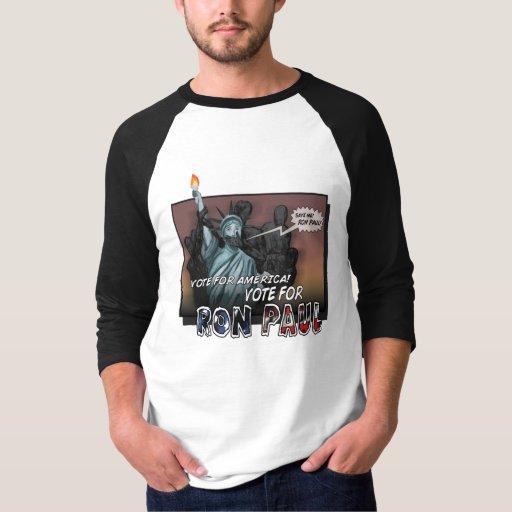 Camisa del cómic de Ron Paul