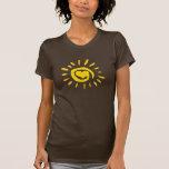 Camisa del corazón de la sol
