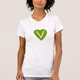 Camisa del corazón del vegano