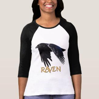 Camisa del Corvid-amante del cuervo que vuela