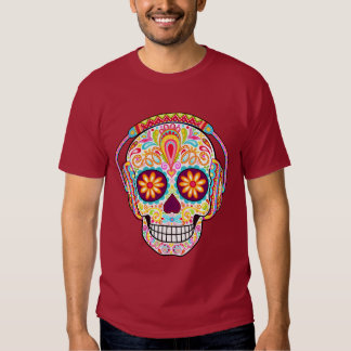 Camisa del cráneo del azúcar - auriculares que