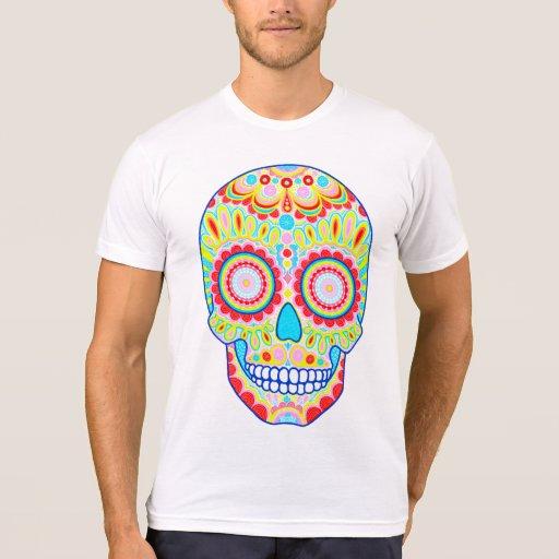 Camisa del cráneo del azúcar - día de la camiseta