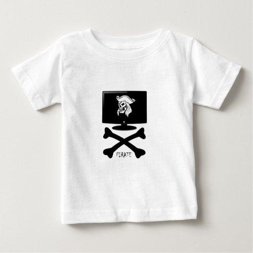Camisa del cráneo del pirata del Internet