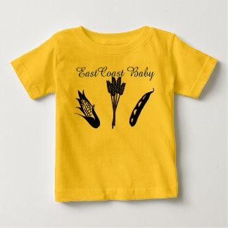 Camisa del cultivo de bebé de la costa este