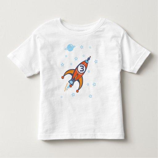 Camisa del cumpleaños - camisa de Rocket