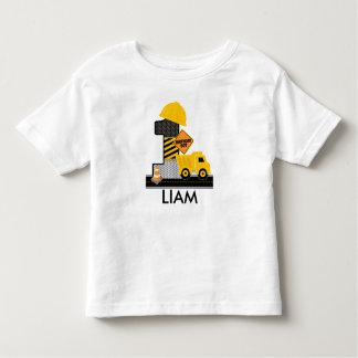 Camisa del cumpleaños de la construcción, edad 1