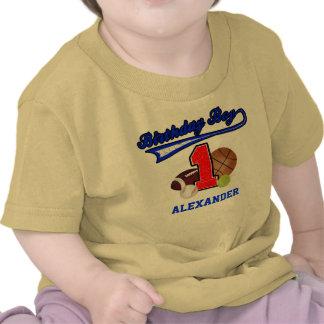 Camisa del cumpleaños de los deportes del muchacho