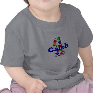 Camisa del cumpleaños de los lunares del arco iris