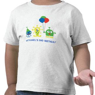 Camisa del cumpleaños del golpe del monstruo