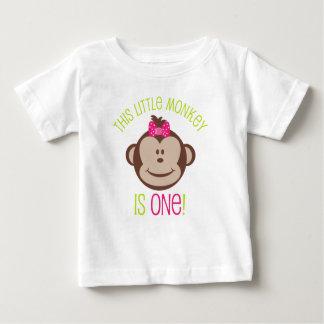 Camisa del cumpleaños del mono de la MOD de la