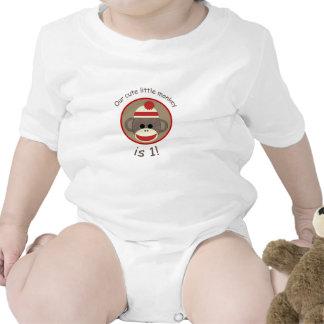 Camisa del cumpleaños del mono del calcetín del mu