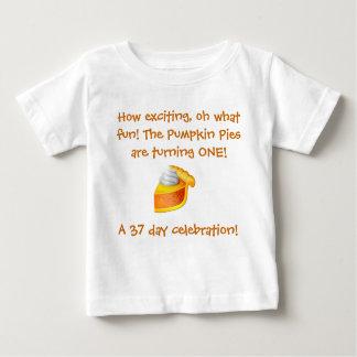 Camisa del cumpleaños del pastel de calabaza