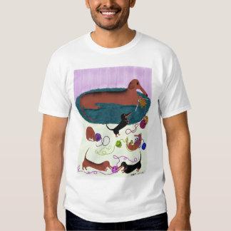 Camisa del Dachshund que hace punto