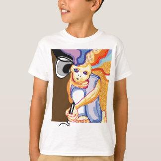 camisa del delantal del artista