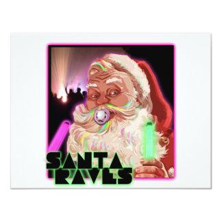 Camisa del delirio de Papá Noel Invitación Personalizada